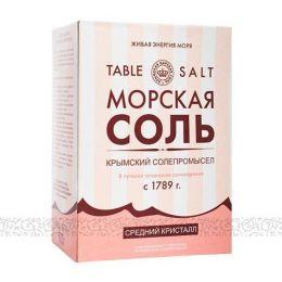 Крымская Морская соль, средний кристалл 800 г.
