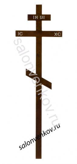 Крест на могилу деревянный сосна100х100 210см темный