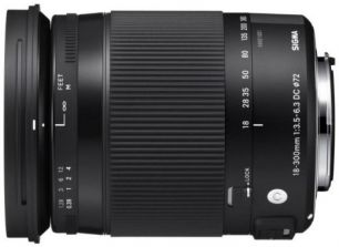SIGMA AF 18-300mm f/3.5-6.3 DC Macro OS HSM Contemporary Nikon F