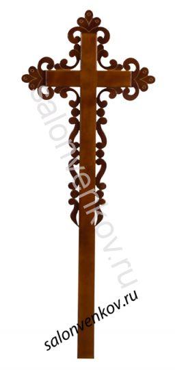 """Крест на могилу деревянный сосна """"Ажурный""""  католический 210см"""