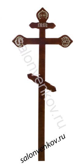 """Крест на могилу деревянный сосна """"Фигурный""""  220см темный"""