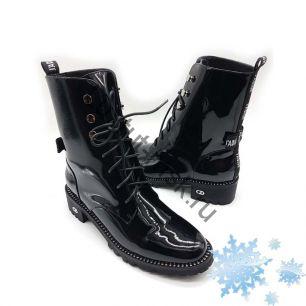 Ботинки Dior (с мехом) лаковые