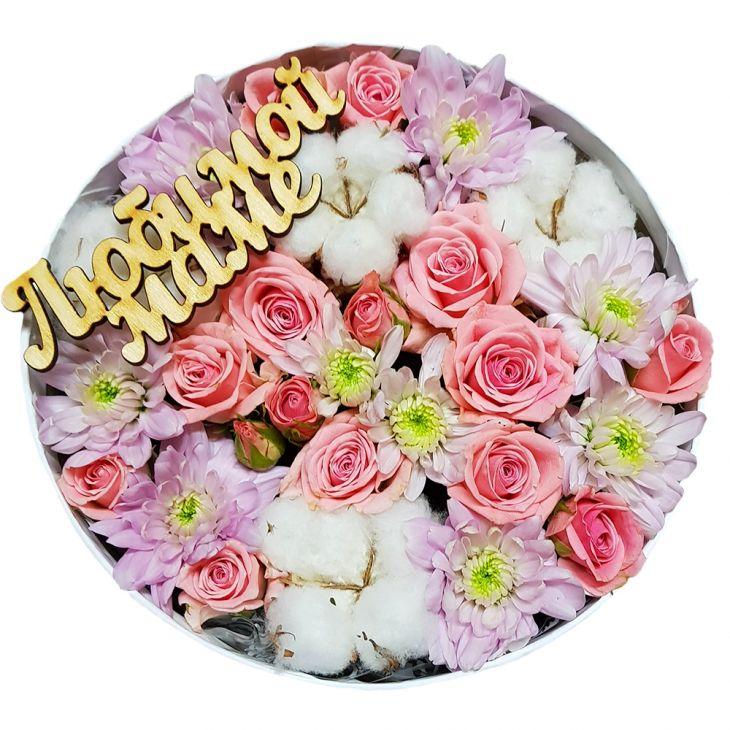 Коробочка с цветами Маме