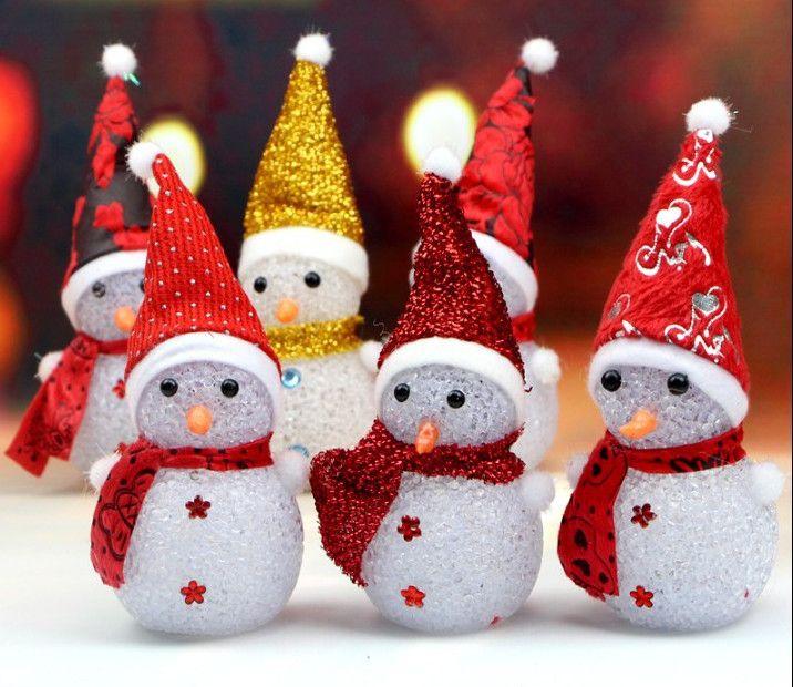 """Игрушка новогодняя """"Светящийся снеговик"""""""
