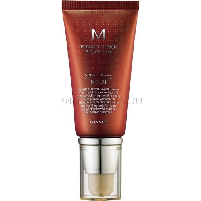 Missha M Perfect Cover BB Cream SPF42/PA+++ (No.21/Light Beige)
