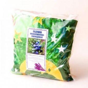 Травяная подушка для сна можжевелово-лавандовая 21 см х 21 см