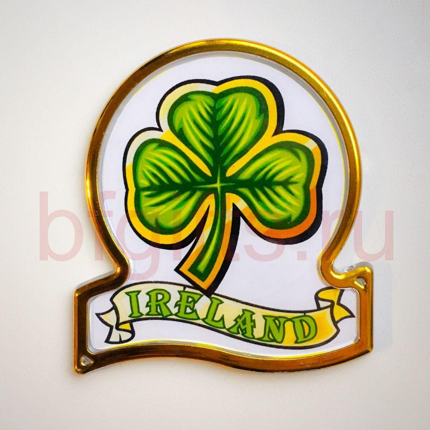 Магнит Ирландский клевер на счастье