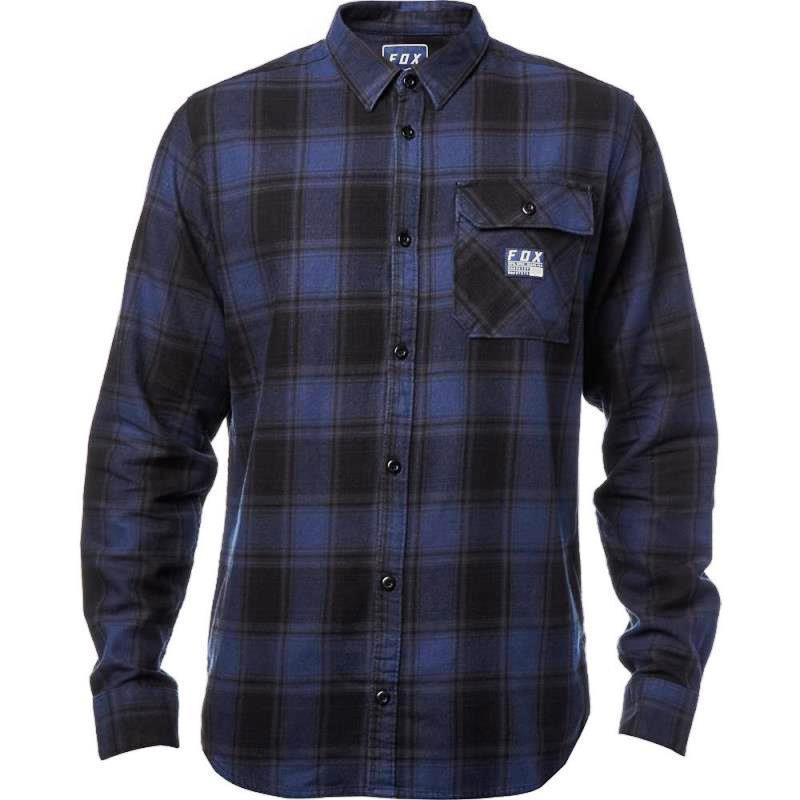 Fox - Voyd Flannel Black/Blue рубашка, черно-синяя