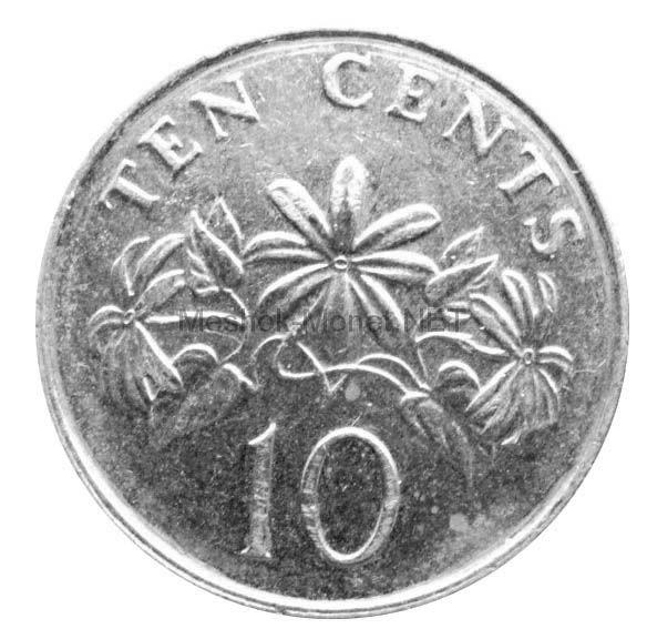 Сингапур 10 центов 1990 г.