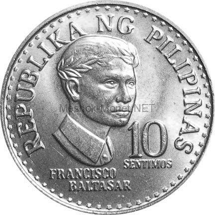 Филиппины 10 сентимо 1978 г.