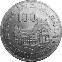 Индонезия 100 рупий 1978 г.