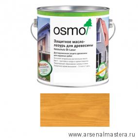 Защитное масло-лазурь для древесины Osmo Holzschutz Ol-Lasur 732 Дуб светлый 2,5 л
