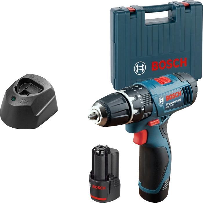 Дрель-шуруповерт Bosch GSR 120-LI 1.5Ah x2 Case (06019F7001)