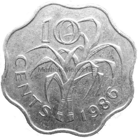 Свазиленд 10 центов 1986 г.