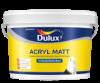 Краска для Стен и Потолков Dulux Acryl Matt 9л Латексная, Глубокоматовая / Делюкс Акрил Матт