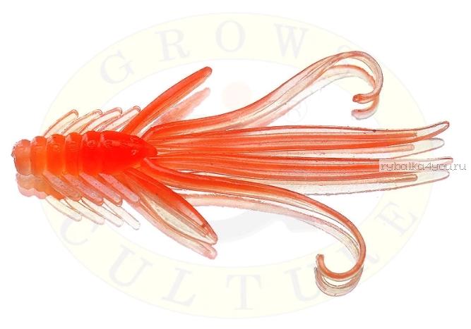 Купить Мягкая приманка Grows Culture Nymph Trout Red Bass 50 мм (съедобные) цвет Orange/Silver