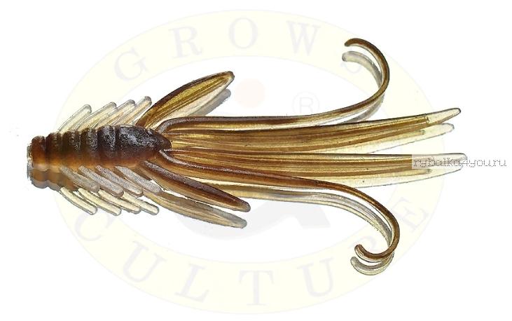 Мягкая приманка Grows Culture  Nymph Trout Red Bass 50 мм (съедобные) цвет Brown/Silver