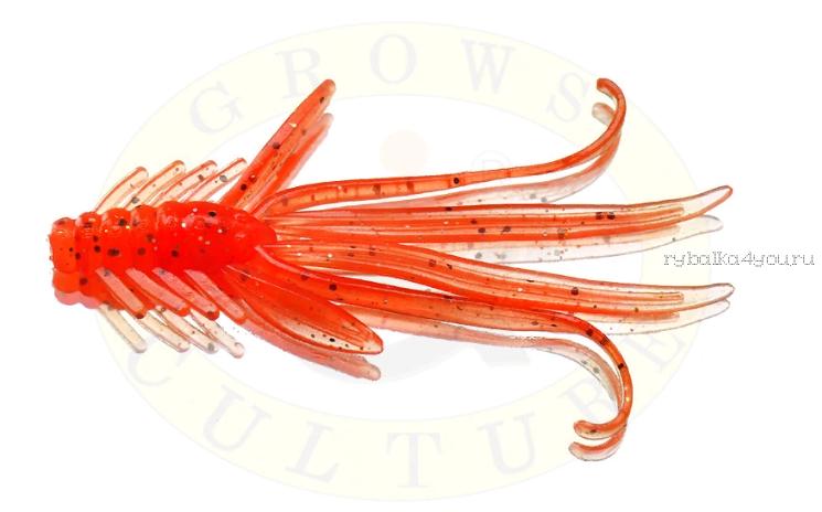 Мягкая приманка Grows Culture  Nymph Trout Red Bass 80мм (съедобные) цвет Orange G