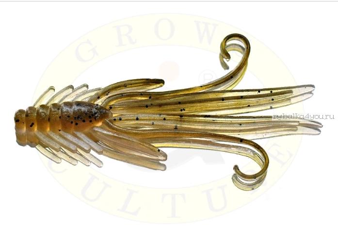 Мягкая приманка Grows Culture  Nymph Trout Red Bass 80мм (съедобные) цвет Olive/Silver