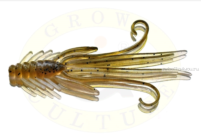Купить Мягкая приманка Grows Culture Nymph Trout Red Bass 80мм (съедобные) цвет Olive/Silver