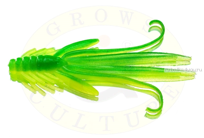 Купить Мягкая приманка Grows Culture Nymph Trout Red Bass 80мм (съедобные) цвет Fluo/Green