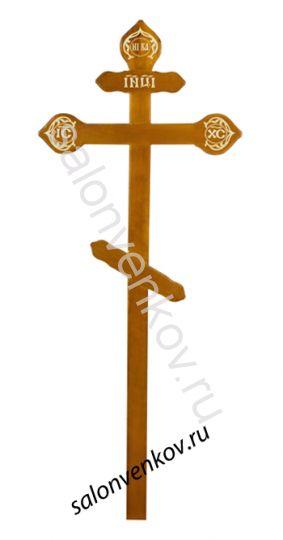 """Крест на могилу деревянный из дуба """"Фигурный""""  220см"""