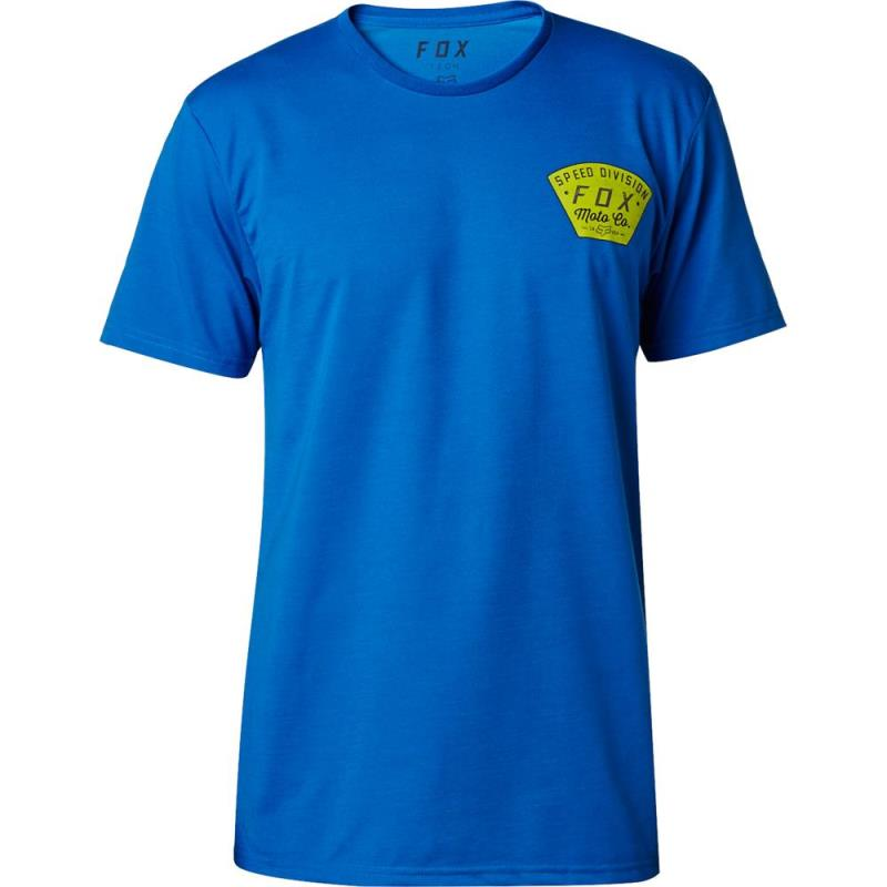 Fox - Seek And Construct SS Tech Tee Dust Blue футболка, синяя