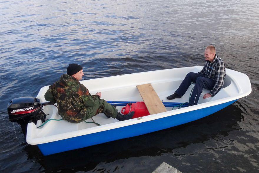 Румпельная моторная лодка ВИЗА Легант-390 Моторка