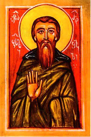 Василий Ратишвили (рукописная икона)