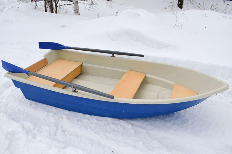 Моторно-гребная стеклопластиковая лодка картоп ВИЗА Легант-280