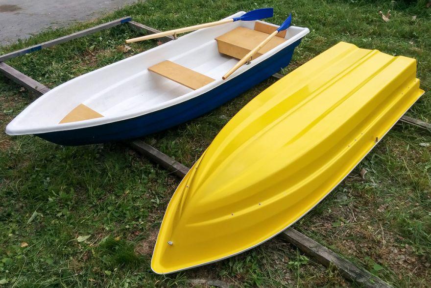 Моторно-гребная стеклопластиковая лодка картоп ВИЗА Легант-340