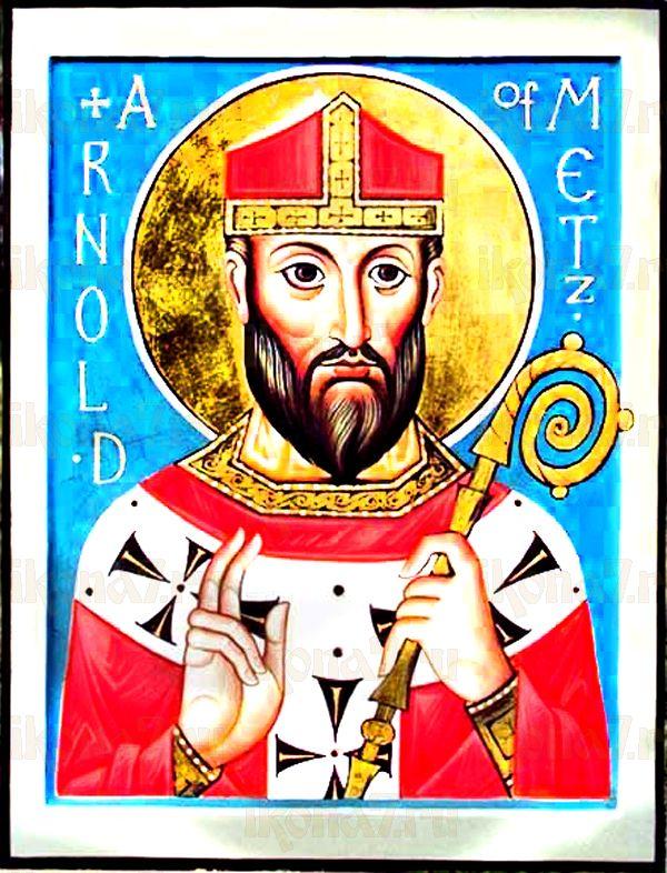 Арнольд  Мецкий (рукописная икона)