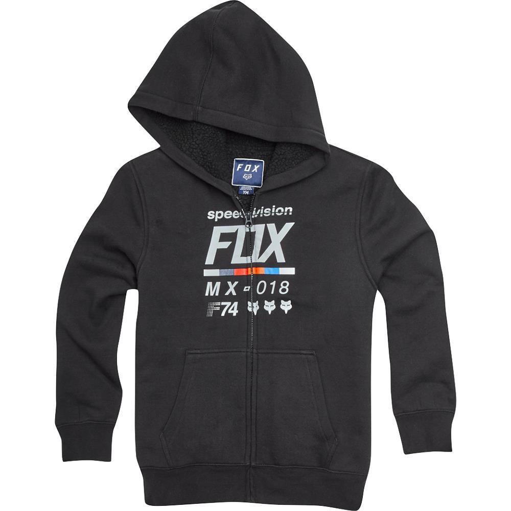 Fox - Youth Draftr Sherpa Zip Fleece Black толстовка подростковая, черная