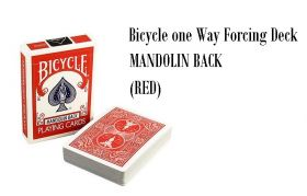 Bicycle One Way Forcing Deck (Mandolin Back) - красная рубашка - Дама черви