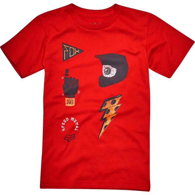 Fox - Kids Out Ahead SS Tee Dark Red футболка детская, красная