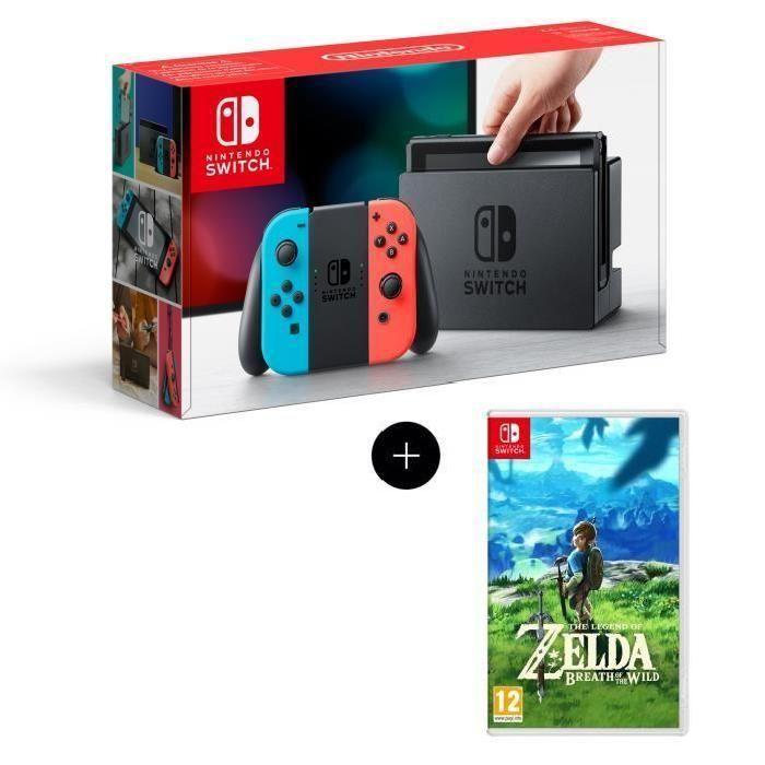 Игровая приставка Nintendo Switch (неоновый красный/неоновый синий) + The Legend of Zelda