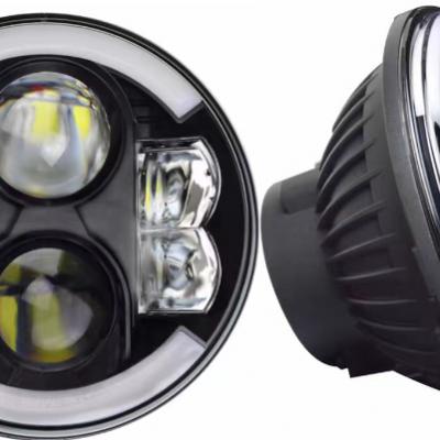 Светодиодные фары головного света 7 дюймов 160W с ходовыми огнями