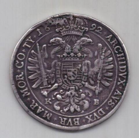 1 талер 1692 г. Венгрия. Австрия
