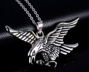 """Стальная подвеска """"Летящий Орел"""" с цепочкой (арт. 900603)"""