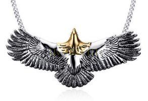 """Титановая мужская подвеска """"Летящий орел"""" с цепочкой (арт. 900609)"""
