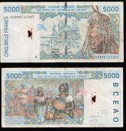 Французская Западная Африка Кот-д-Ивуар 5000 франков 2002 - 2003