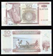 Бурунди 50 франков 2001