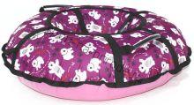 Тюбинг Hubster Люкс Pro Мишки розовые 90 см