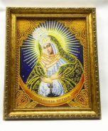 Остробрамская икона Божией Матери АЛМАЗНАЯ ЖИВОПИСЬ 34х28см. РУЧНАЯ РАБОТА. ДОРОГОЙ БАГЕТ