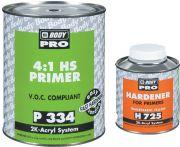 HB Body Грунт PRO 334 HS 4+1 с отвердителем H725 (комплект), объем  1л. + 250мл.