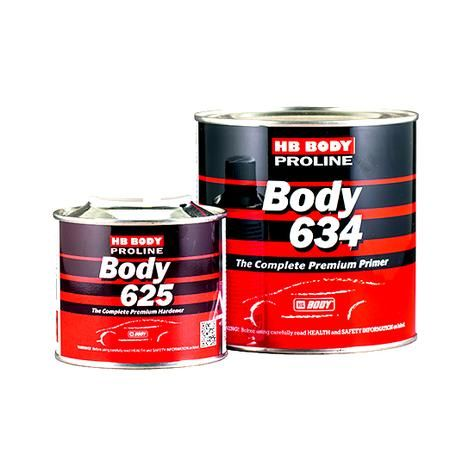 HB Body Грунт PROLINE HS 634 4+1 Black с отвердителем 625, (комплект), объем 800мл. + 200мл.
