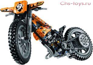 Конструктор PRCK Техника Кроссовый мотоцикл 38041 (42007) 253 дет
