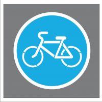 """Трафарет знака """"Велосипедная дорожка"""" (в круге)"""