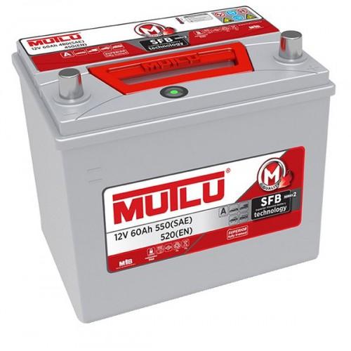 Автомобильный аккумулятор АКБ MUTLU (Мутлу) D23.60.052.С SMF 55D23FL 60Ач О.П. нижнее крепление