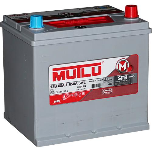 Автомобильный аккумулятор АКБ MUTLU (Мутлу) D23.68.060.С SMF 70D23FL 68Ач О.П. нижнее крепление
